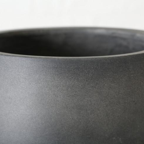 Kovový kvetináč na nožičkách 33 cm - antracitový