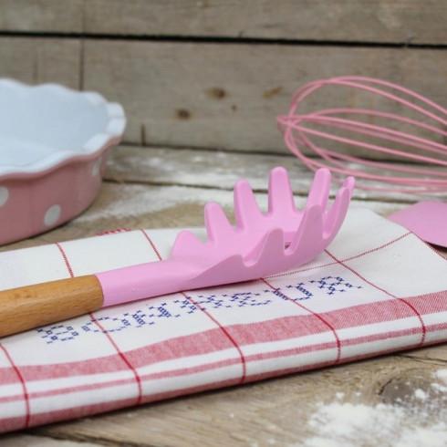 Silikónová lyžica na špagety - 31 cm ružová