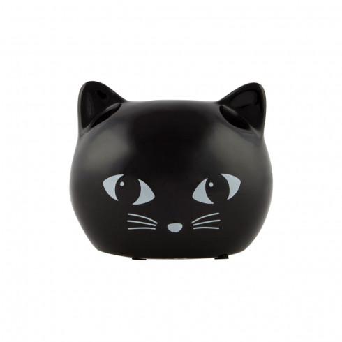 čierna mačka mačička