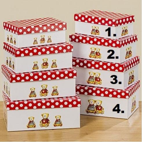 Kartónová krabica s medvedíkmi - vel.4