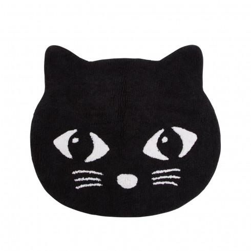 Bavlnený koberec Mačička - čierny