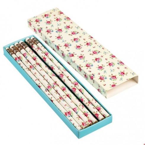 Ceruzka s gumou s ružami - set 6 ks