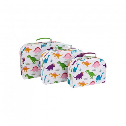 Kartónový kufrík s dinosaurami - malý