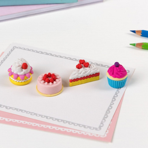 Mazacie gumy Tortičky s vôňou vanilky - set 6 ks