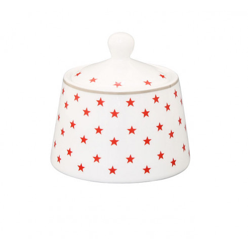 Porcelánová cukornička Red Stars