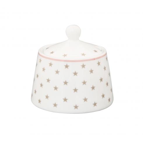 Porcelánová cukornička s lyžičkou Grey Stars