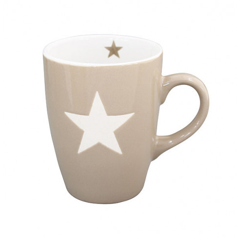 Porcelánový hrnček Taupe stars - 330 ml
