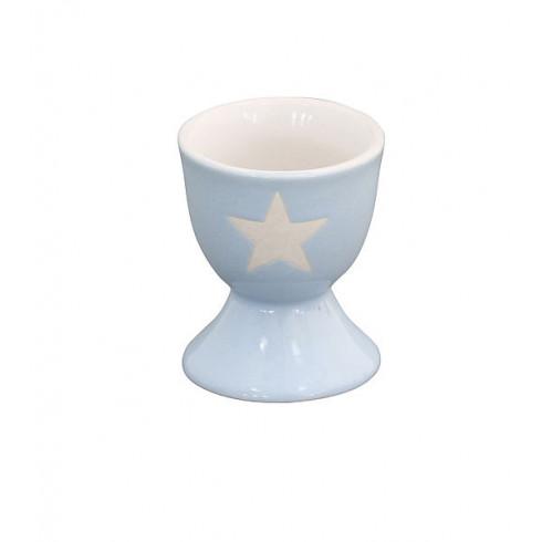 Porcelánový stojan na vajíčko Light blue Stars