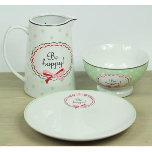 Porcelánový tanier Be happy -20,5 cm
