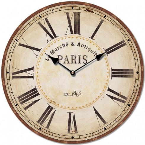 Nástenné retro hodiny motív Paris 29 cm