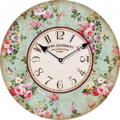 Drevené nástenné hodiny Belle Jardin 15 cm