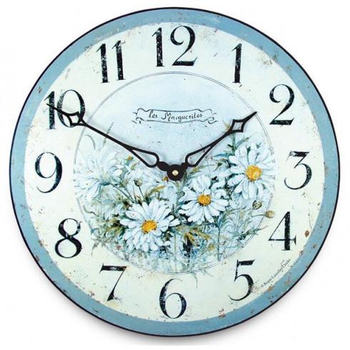 Drevené nástenné hodiny Les Marguerites 15 cm