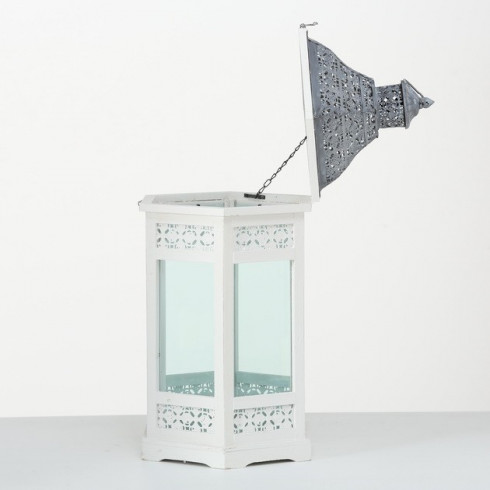 Drevený lampáš Janine 63 cm - menší