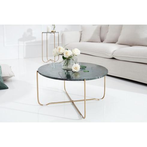 Konferenčný stolík Noble mramor gold - sivý 60 cm