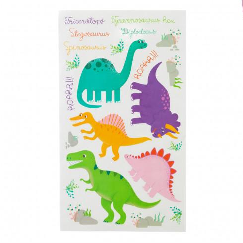 Detské nálepky na stenu - dinosaurus