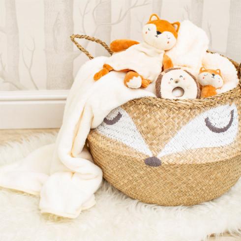 Úložný košík z morskej trávy Líška