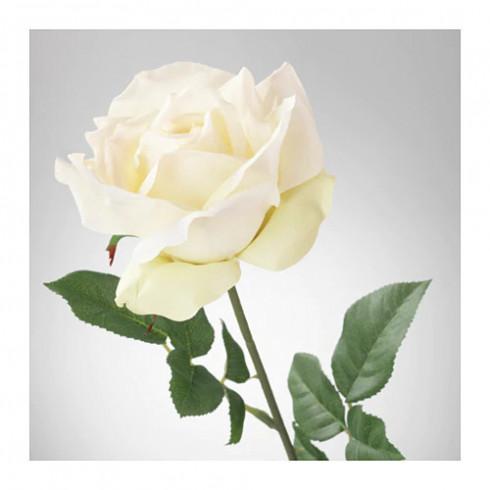 Dekoračná umelá ruža - biela 56 cm