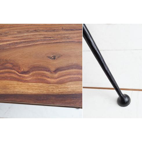 Dizajnový drevený stolík Alpha sheesham - 100cm