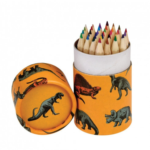 Pastelky v kartónovom puzdre s dinosaurami 36 ks