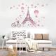 Samolepka na stenu - Eiffelovka