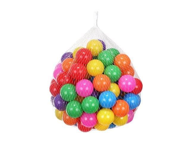 Plastové loptičky - farebné, 100ks